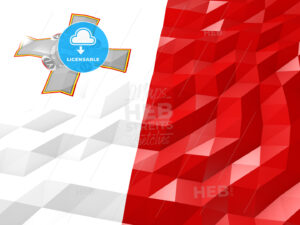 Flag of Malta 3D Wallpaper Illustration - HEBSTREITS Sketches