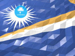 Flag of Marshall Islands 3D Wallpaper Illustration