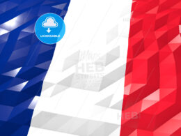 Flag of Martinique 3D Wallpaper Illustration