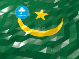 Flag of Mauritania 3D Wallpaper Illustration