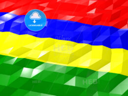 Flag of Mauritius 3D Wallpaper Illustration