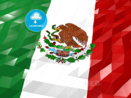 Flag of Mexico 3D Wallpaper Illustration