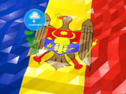 Flag of Moldova 3D Wallpaper Illustration