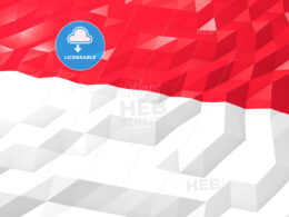 Flag of Monaco 3D Wallpaper Illustration