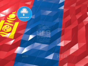 Flag of Mongolia 3D Wallpaper Illustration - HEBSTREITS Sketches