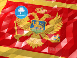 Flag of Montenegro 3D Wallpaper Illustration