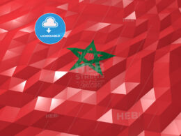 Flag of Morocco 3D Wallpaper Illustration