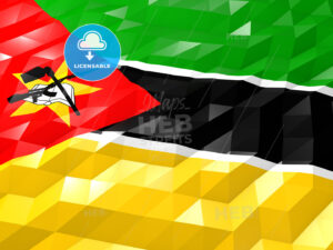 Flag of Mozambique 3D Wallpaper Illustration - HEBSTREITS Sketches
