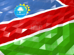 Flag of Namibia 3D Wallpaper Illustration