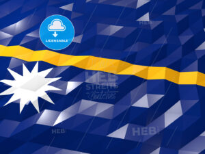 Flag of Nauru 3D Wallpaper Illustration - HEBSTREITS Sketches