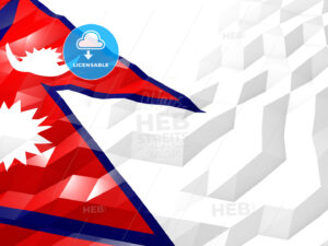 Flag of Nepal 3D Wallpaper Illustration - HEBSTREITS Sketches