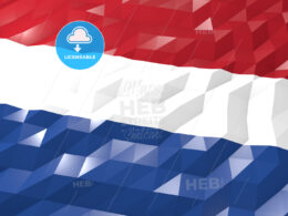 Flag of Netherlands 3D Wallpaper Illustration