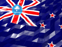 Flag of New Zealand 3D Wallpaper Illustration