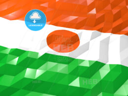 Flag of Niger 3D Wallpaper Illustration
