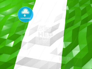 Flag of Nigeria 3D Wallpaper Illustration - HEBSTREITS Sketches