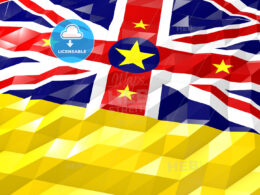 Flag of Niue 3D Wallpaper Illustration
