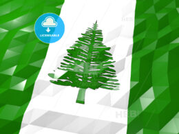 Flag of Norfolk Island 3D Wallpaper Illustration