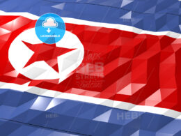 Flag of North Korea 3D Wallpaper Illustration