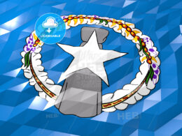 Flag of Northern Mariana Islands 3D Wallpaper Illustration