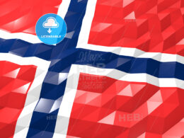 Flag of Norway 3D Wallpaper Illustration