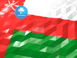 Flag of Oman 3D Wallpaper Illustration