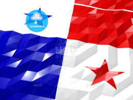 Flag of Panama 3D Wallpaper Illustration