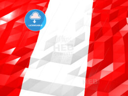 Flag of Peru 3D Wallpaper Illustration