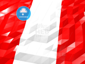 Flag of Peru 3D Wallpaper Illustration - HEBSTREITS Sketches