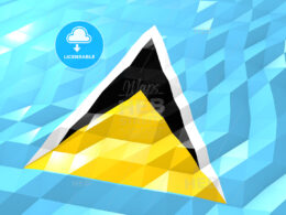 Flag of Saint Lucia 3D Wallpaper Illustration