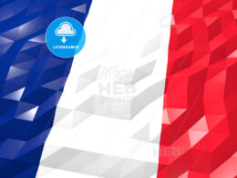 Flag of Saint Martin (French part) 3D Wallpaper Illustration