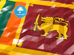 Flag of Sri Lanka 3D Wallpaper Illustration