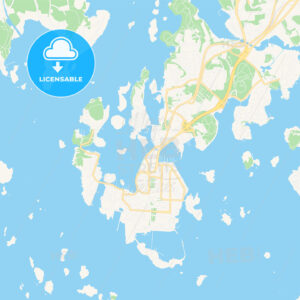 Karlskrona, Sweden Vector Map – Classic Colors - HEBSTREITS Sketches