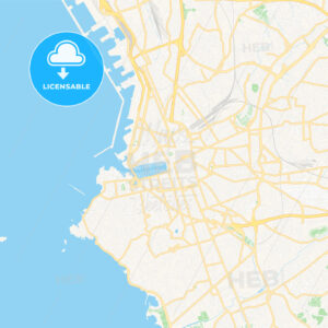 Marseille, France Vector Map – Classic Colors - HEBSTREITS Sketches