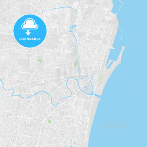 Printable map of Chennai, India - HEBSTREITS