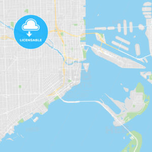 Printable map of Miami, United States - HEBSTREITS