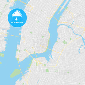 Printable map of New York City, United States - HEBSTREITS