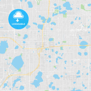 Printable map of Orlando, United States - HEBSTREITS