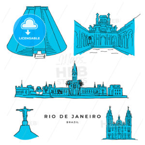 Rio de Janeiro architecture drawings - HEBSTREITS
