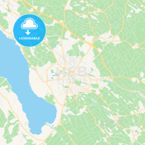 Uster, Switzerland Vector Map – Classic Colors - HEBSTREITS Sketches