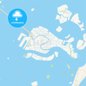 Venice, Italy Vector Map – Classic Colors - HEBSTREITS Sketches