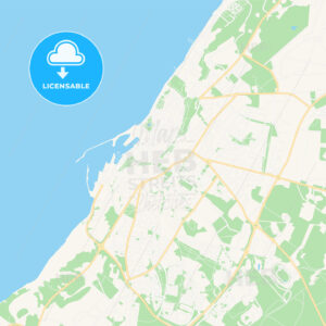 Visby, Sweden Vector Map – Classic Colors - HEBSTREITS Sketches