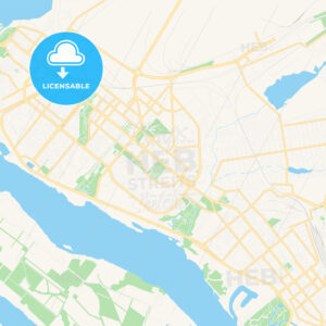 Zaporizhia, Ukraine Vector Map – Classic Colors - HEBSTREITS Sketches
