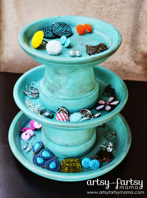 Pottery Box Barn Jewelry Blue