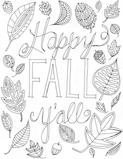 fall coloring pages printable free # 8