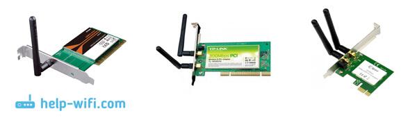Kuva: Sisäiset PCI-sovittimet yhteyden muodostamiseen Wi-Fi: ään