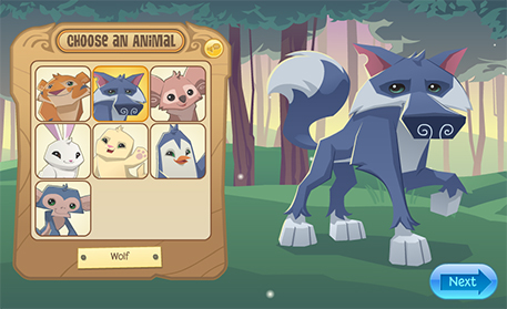 How do I start playing Animal Jam      Animal Jam Help Center Choose a fun new name for your animal  then click the Next button