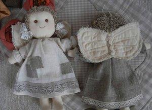 Ангелочек из ткани