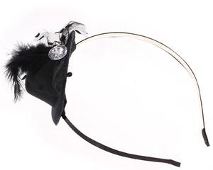 Ободок для волос со шляпкой