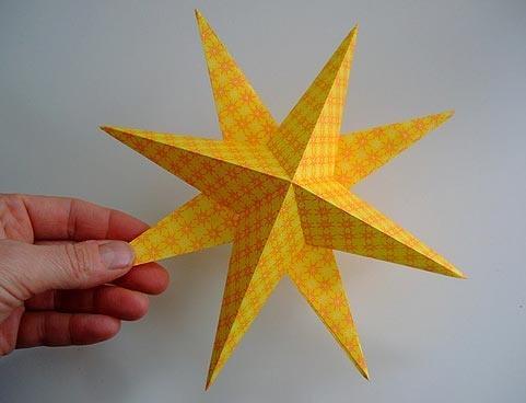 نجوم الاستنسل لقطع الورق، أنماط