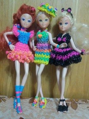 Плетение из резинок одежды для кукол